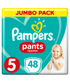 Подгузники-трусики Pampers Pants 5 (12-17кг) 48шт
