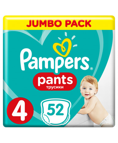 Подгузники-трусики Pampers Pants 4 (9-15) 52шт