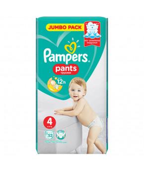 Подгузники-трусики Pampers Pants 4 (9-15кг) 52шт
