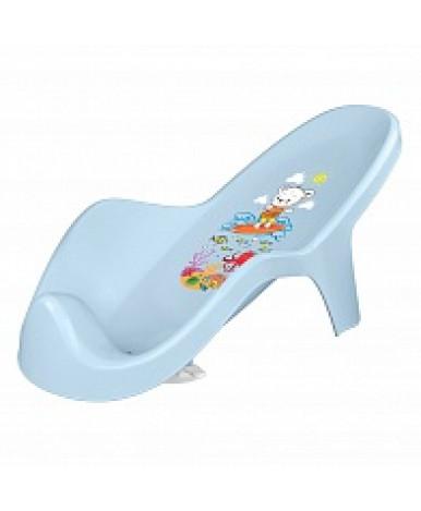 Горка для купания Пластишка с декором светло-голубой