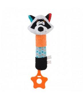Развивающая игрушка BabyOno Енот пищалка с прорезывателем