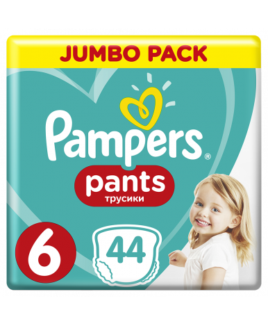 Подгузники-трусики Pampers Pants 6 (16+кг) 44 шт