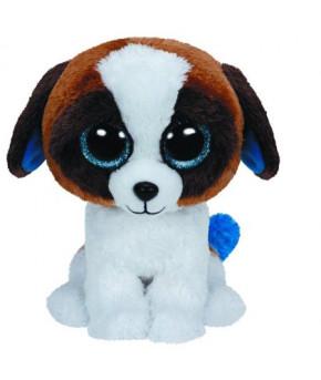 Мягкая игрушка Beanie Boo's Щенок Duke коричневый с белым 25 см