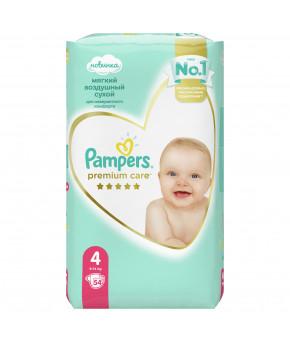 Подгузники Pampers Premium Care 4 (9-14 кг) 108шт (2 части, цена за 54шт)