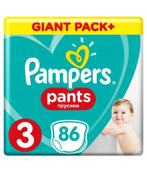 Подгузники-трусики Pampers Pants 3 (6-11 кг) 86шт