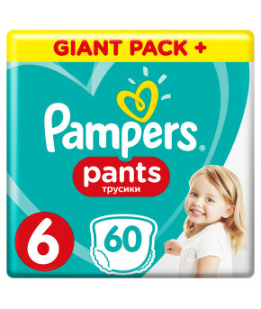 Подгузники-трусики Pampers Pants 6 (>15 кг) 60шт