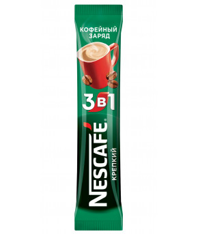 Кофе Nescafe 3 в 1 кофейный заряд крепкий 16г