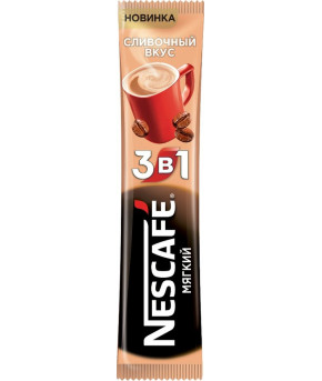 """Кофе """"Nescafe"""" сливочный вкус мягкий 3 в 1, 16г"""