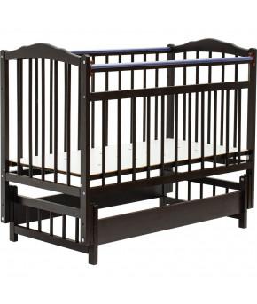 """Кровать детская """"Bambini"""" Classic 11, темный орех"""