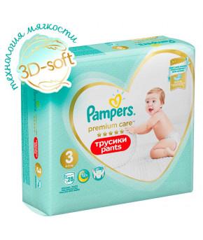 Подгузники-трусики Pampers Premium Care 3 (6-11 кг) 28шт
