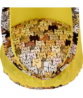 Кресло Polini kids кокон подвесное желтый