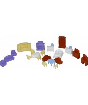 Набор Polesie мебели для кукол №5 (21 элемент в пакете)
