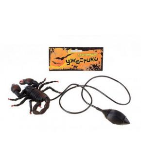 Игрушка-прикол Прыгающий скорпион 12см