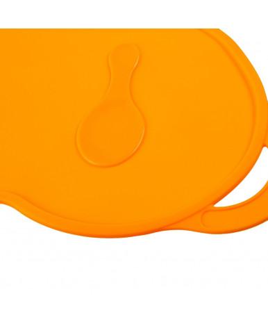 Коврик для кормления силиконовый антискользящий цвет оранжевый
