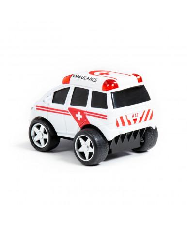 Автомобиль инерционный Полесье Крутой Вираж скорая помощь