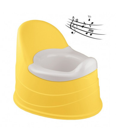 Горшок-трон музыкальный Пластишка 390х310х305 мм желтый