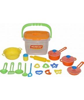 Набор детской посуды Полесье (20 элементов) (в ведёрке)