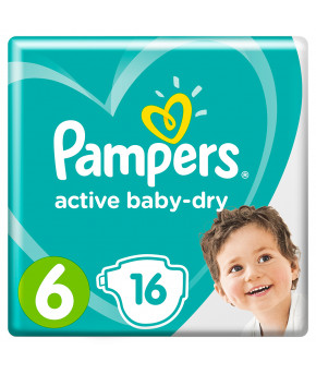 Подгузники Pampers Active Baby 6 (13-18кг) 16шт