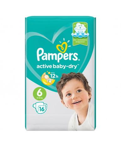 Подгузники Pampers Active Baby 6 (13-18кг) 16шт