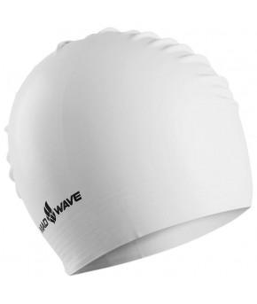 Шапочка для плавания подростковая Mad Wave латексная Solid Soft, белая