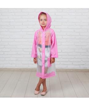 Детский дождевик Гуляем под дождём розовый, размер M