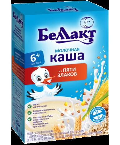 Каша Беллакт из 5 злаков молочная 250г