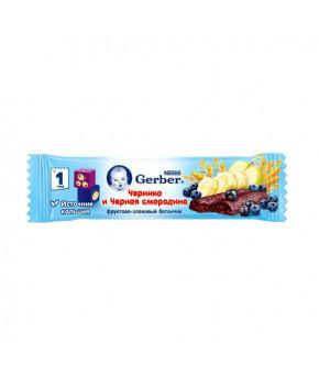 Батончик Gerber фруктово-злаковый черника и черная смородина 25г
