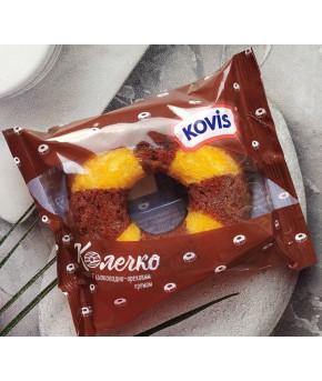Мини маффины KOVIS с шоколадно-ореховым кремом 40г (цена за 1колечко)
