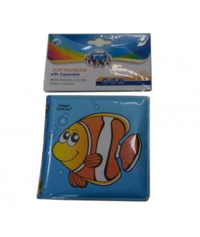 Книжка Canpol развивающая с пищалкой Рыбка