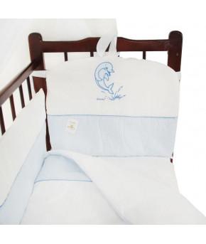 Комплект в кроватку Migliori Дельфин голубой 7пр