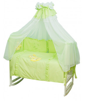 Комплект в кроватку Migliori Черепаха желто-зеленый 7пр