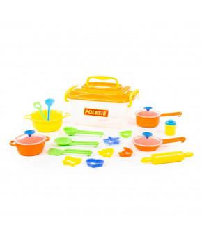 Набор детской посуды Полесье 20 элементов (в контейнере)