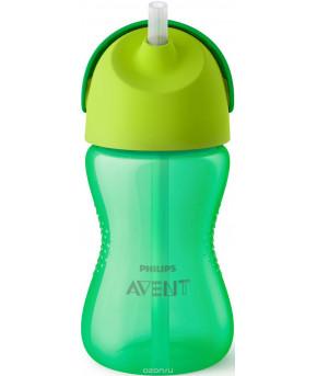 """Поильник """"Avent"""" с трубочкой зеленый 300мл, 12+"""