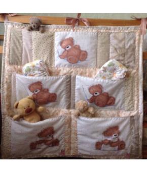 Карман для кроватки Багира цвета в асортименте 50х60см