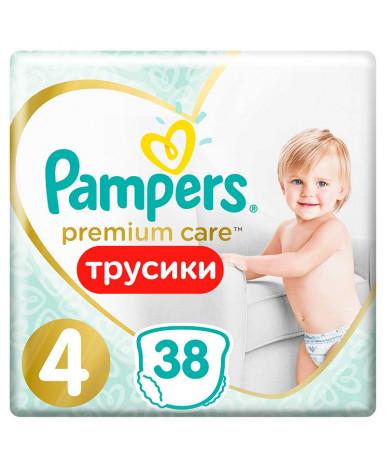 Подгузники-трусики Pampers Premium Care 4 (9-15 кг) 38шт