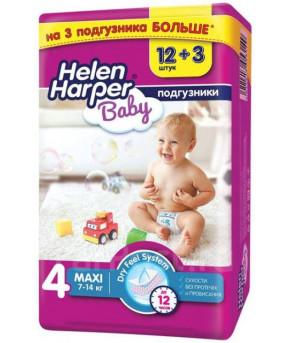 "Подгузники ""Helen Harper"" Baby 4 (7-14 кг) 15шт"