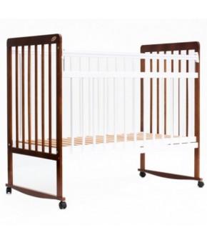 Кровать детская Bambini Euro Style 03, светлый орех/белый