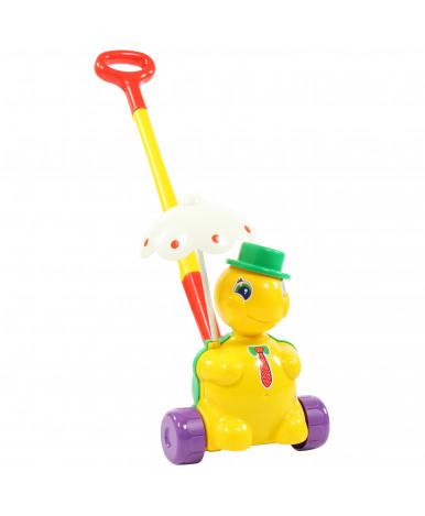 Игрушка-каталка Полесье Черепашка Тортила с ручкой
