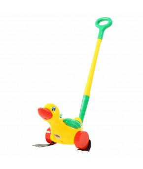Игрушка-каталка Полесье Утёнок с ручкой