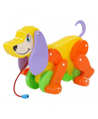 Игрушка-каталка Полесье на шнурке Собака-Боби