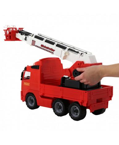 Автомобиль пожарная Полесье Volvo (в сеточке)