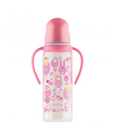"""Бутылочка """"Lubby"""" Малыши и малышки платисковая с силиконовой соской от 0мес, 250мл"""
