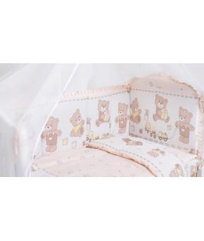 Комплект в кроватку Migliori Мишки на прогулке розовый 5пр