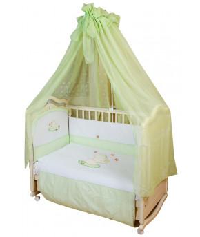 Комплект в кроватку Migliori Цветочный слоник салатовый 7пр