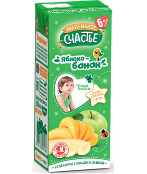 Нектар Маленькое счастье яблоко-банан 200мл