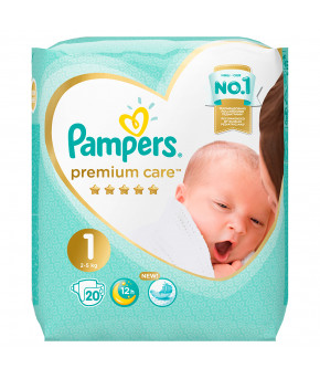 Подгузники Pampers Premium Care 1 (2-5кг) 20шт
