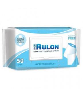 Влажная туалетная бумага Mon Rulon с пластиковым клапаном, 50шт