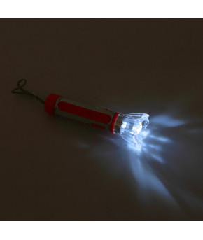 Фонарик ручной Рассеиватель-цветок вставка на ручке под металл микс, 3.5х10.5 см