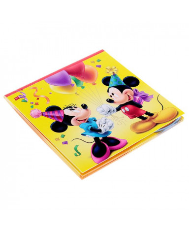 """Блокнот в открытке """"С днем рождения""""  """"Микки  Маус и друзья"""