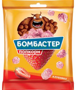 Попкорн Бомбастер клубника 50г
